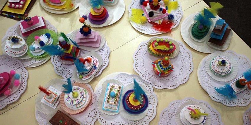 Rencards nomades : «Atelier gâteaux de papier» à la médiathèque de Vic-le-Comte