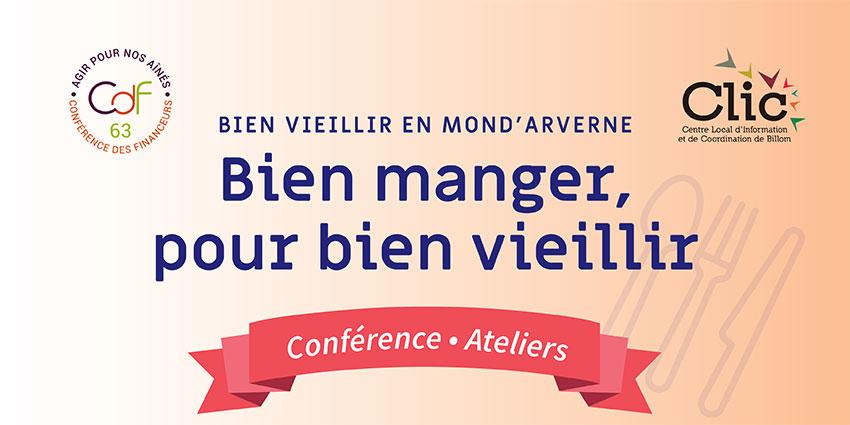 Conférence «Bien manger, pour bien vieillir»